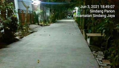 Pembagunan Jalan Perumahan Sindang Panon Regency Diduga Curang