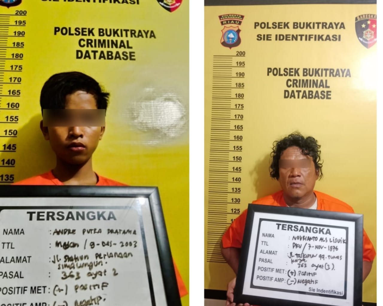 Dua Orang Yang Diduga Maling Berhasil Diringkus Polsek Bukit Raya
