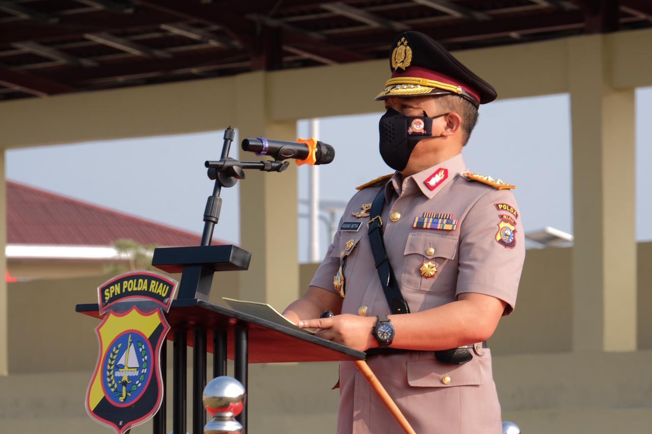 Kapolda Riau Buka Secara Resmi Diktuk Bintara Polri T.A. 2021 SPN Polda Riau