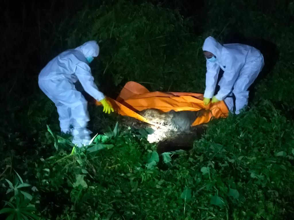 Penemuan Sesosok Mayat Tak Dikenal Di Desa Pandau Jaya Siak Hulu