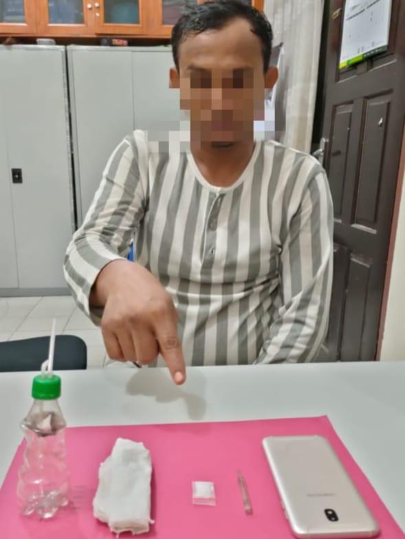 Mau Transaksi Shabu Dekat SPBU Rimbo Panjang, Pelaku Ditangkap Resnarkoba Polres Kampar