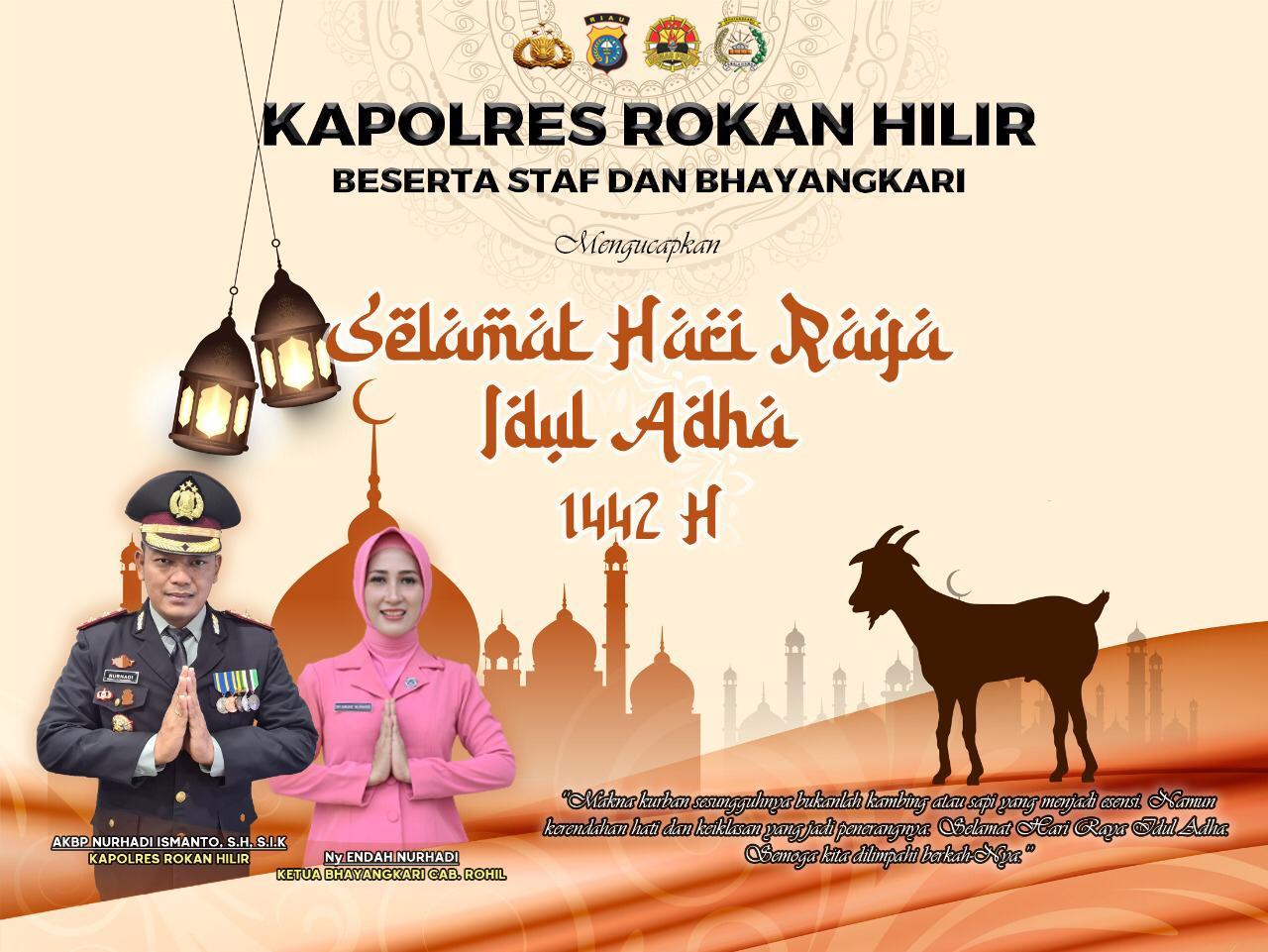 Polres Rohil Sambut Hari Raya Idul Adha 1442 H Dan Siapkan 49 Hewan Qurban
