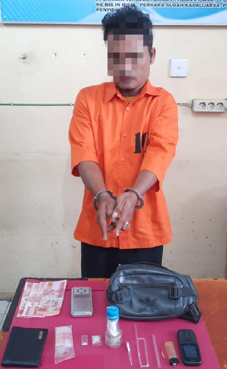Diduga Akan Bertransaksi Narkoba, Pengedar Shabu ini Ditangkap Unit Reskrim Polsek Tapung