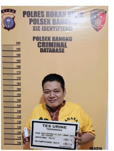 Polsek Bangko Berhasil Tangkap Pelaku Penyalahgunaan Narkotika Jenis Sabu Bersama BB
