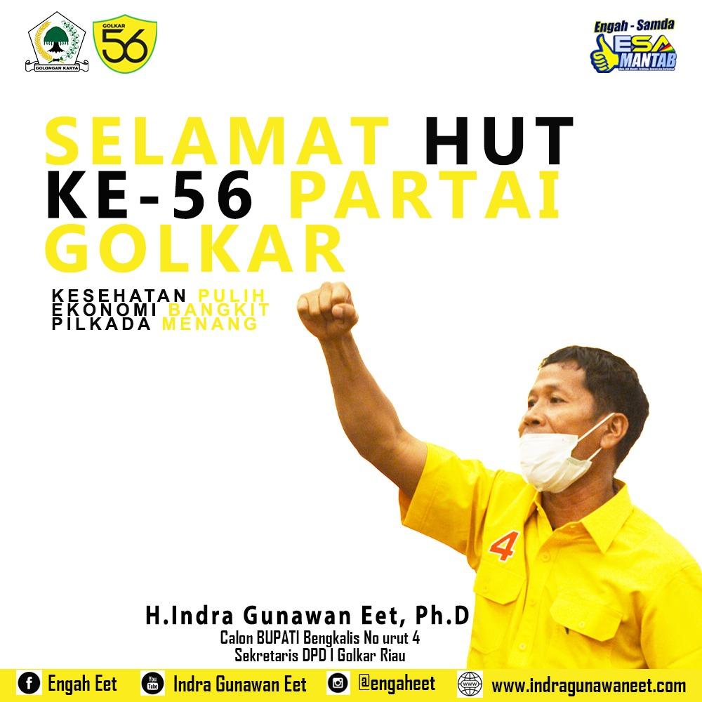 Sempena HUT Golkar ke-56, Ini Harapan Sekretaris DPD I Golkar Riau
