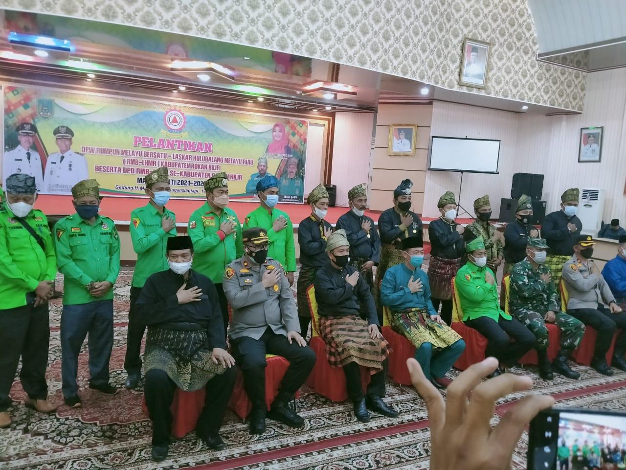 DPW RMB-LHMR Pekanbaru Hadiri Pelantikan DPW RMB-LHMR Rohil