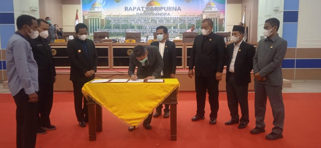 DPRD dan Pemda Rohil sepakati KUA PPAS Perubahan 2021