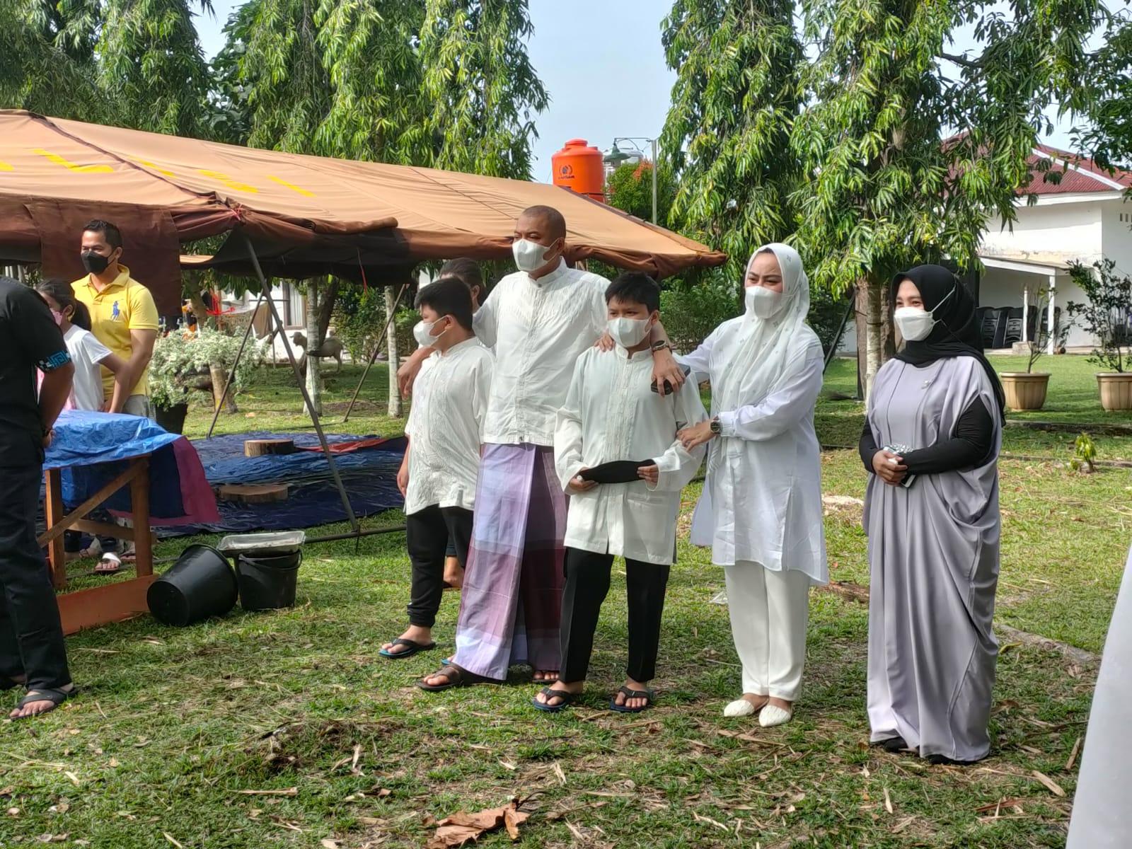 Keluarga Besar Polres Kampar Sembelih 12 Ekor Hewan Qurban Pada Idul Adha 1442-H