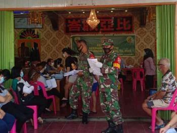 Kodim 0321/Rohil Melalui Koramil 01/Bangko Laksanakan Vaksin Tahap 1 Bersama Yayasan Multi Marga